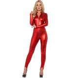 Fever Metallic Red Catsuit