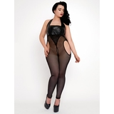 Brand X Spotlight Wet Look and Fishnet Bodystocking