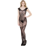 Coquette Black Crotchless Sleeveless Bodystocking