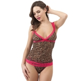 Lovehoney Flirty Leopard Print Lace Vest
