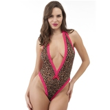 Lovehoney Flirty Leopard Print Lace Plunge Body