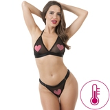 Lovehoney Hot For You Colour-Changing Bra Set