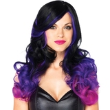 Leg Avenue Allure Long Wavy Black and Purple Ombre Wig
