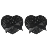 Peekaboos Premium Black Sparkly Heart Nipple Pasties