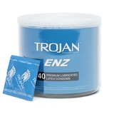 Image of Trojan ENZ Premium Lubricated Condoms (40 Count)