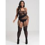 Lovehoney Plus Size Asymmetric Fishnet Suspender Bodystocking