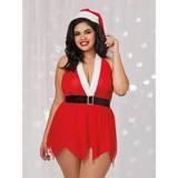 Ensemble nuisette string lutin de Noël grande taille rouge, Dreamgirl