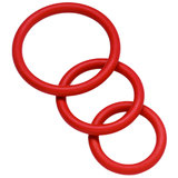 Spartacus Skin Safe Nitrile Cock Ring Set (3 Pack)