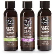 Earthly Body Hemp Seed Massage Oil Gift Set (3 x 60 ml)