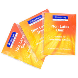 Pasante Natural Non Dam Latex Dams 3-pack