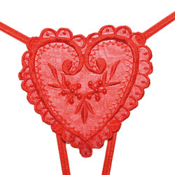 Crotchless Heart Thong