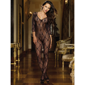 Dreamgirl Black Diamond Butterfly Lace Bodystocking