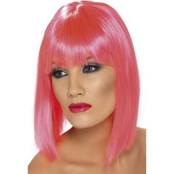 Glam Short Blunt Cut Wig with Fringe