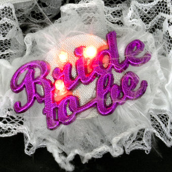Bride To Be Flashing Garter, 3 for £10 at HenNightHQ!