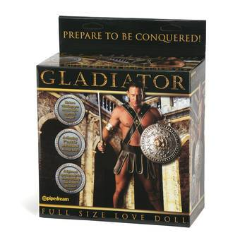 Gladiator Inflatable Male Sex Doll with 7 Inch Realistic Dildo