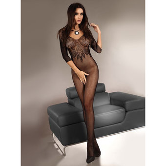 Livia Corsetti Josslyn Fishnet and Lace Bodystocking
