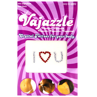 Vajazzle I Love U Body Tattoo