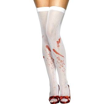 Fever Blood Stained Thigh High Stockings
