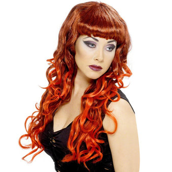 Glamour Long Curly Siren Wig with Fringe