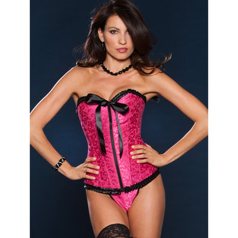 iCollection Victorian Brocade Sweetheart Corset