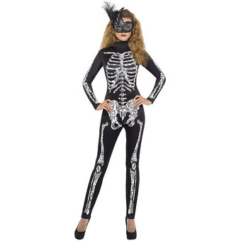 Fever Skeleton Catsuit Halloween Costume