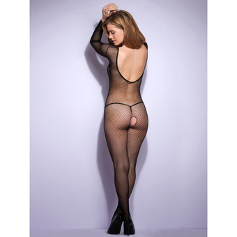 Lovehoney Crotchless Long Sleeve Fishnet Bodystocking