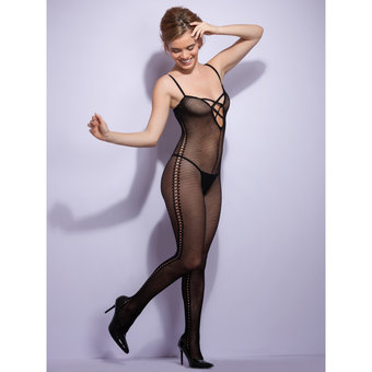 Lovehoney Plunge V-Neck Open Crotch Bodystocking