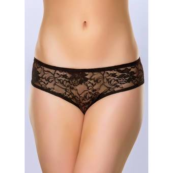 Lovehoney Crotchless Lace Ruffle Back Knickers