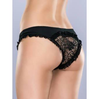 Lovehoney Crotchless Cutout Lace Back Knickers