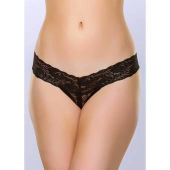 lovehoney Wide Lace Crotchless Thong