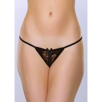 Lovehoney Crotchless Lace G-String