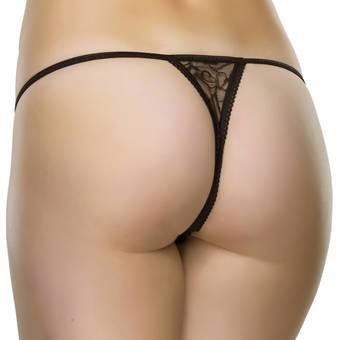 String ficelle fendu dentelle noir, Lovehoney