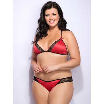 Lovehoney Plus Size Spoil Me Satin Triangle Bra