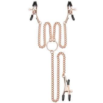 Entice Triple Nipple and Clit Clamps with Chain