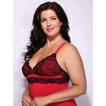 Lovehoney Plus Size Adore Me Lace & Microfibre Chemise Set