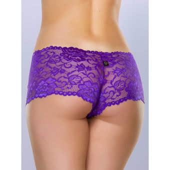 Lovehoney Flirty Purple Lace Boyshort
