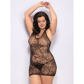Lovehoney Plus Size Lace Racer Back Dress