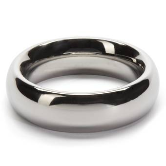 DOMINIX Deluxe 1.9 Inch Stainless Steel Doughnut Cock Ring