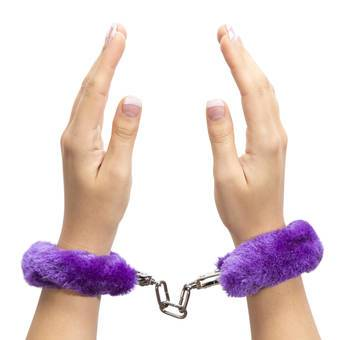 Lovehoney Purple Furry Handcuffs