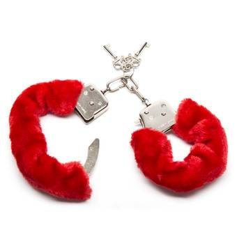 Bondage Boutique Red Furry Handcuffs