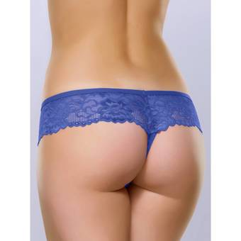 Lovehoney Flirty Indigo Blue Lace Thong