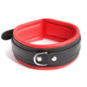 DOMINIX Deluxe Leather Collar Red