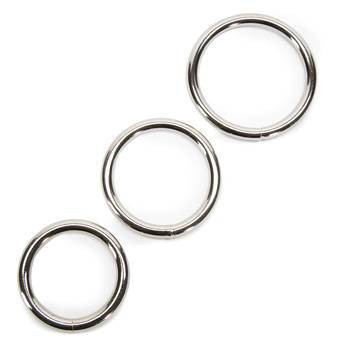 Sportsheets Metal Cock Ring Set (3 Pack)