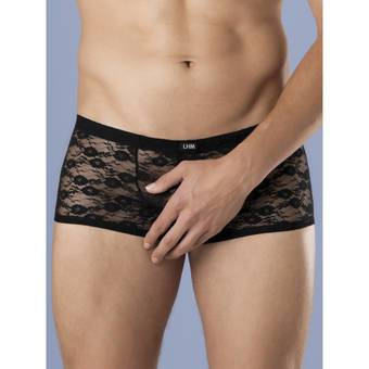 LHM All Over Lace Open Front Back Boxer Shorts