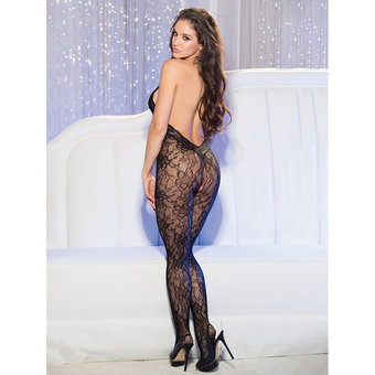Shirley of Hollywood Neckholder-Bodystocking ouvert aus Spitze