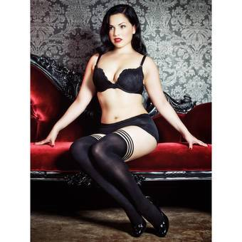 Kix'ies Thigh Highs Opaque Ribbed Hold Ups