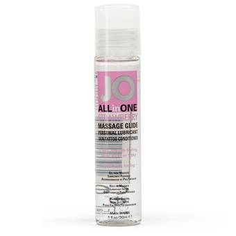System JO Massage All-in-One Strawberry Personal Lubricant
