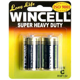 WINCELL C Super Heavy Duty Batteries (2 Pack) LHAU