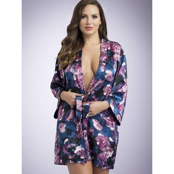 Lovehoney Midnight Bloom Satin Robe