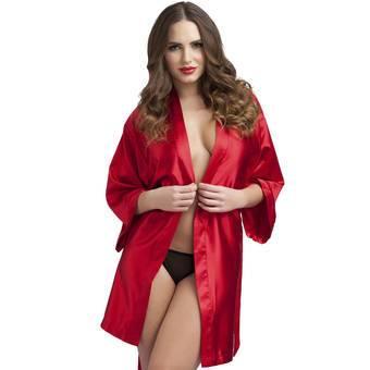 Lovehoney Short Red Satin Robe